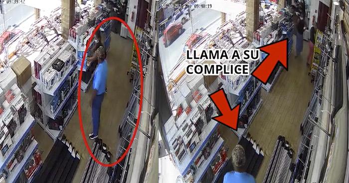 VIDEO | Roban en tienda de Ciudad Merliot y esconden los productos bajo su falda