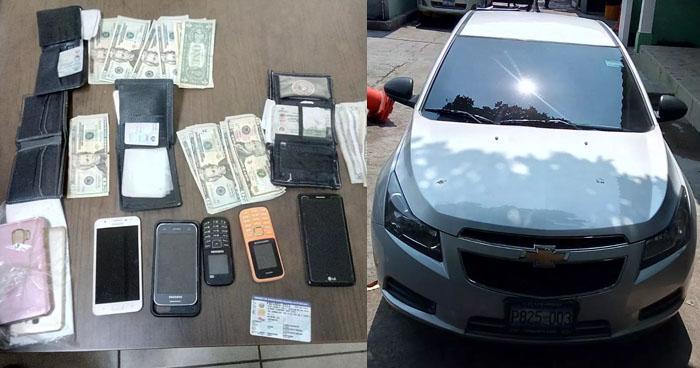 Capturan a sujetos luego de robar a mano armada a varias personas en Santa Ana