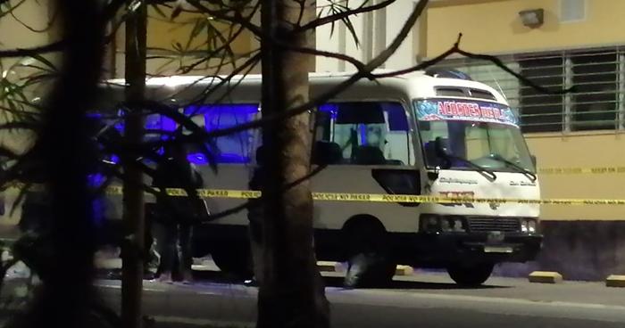 Matan a balazos a pasajero que se resistió a asalto en microbús 113 de Cojutepeque