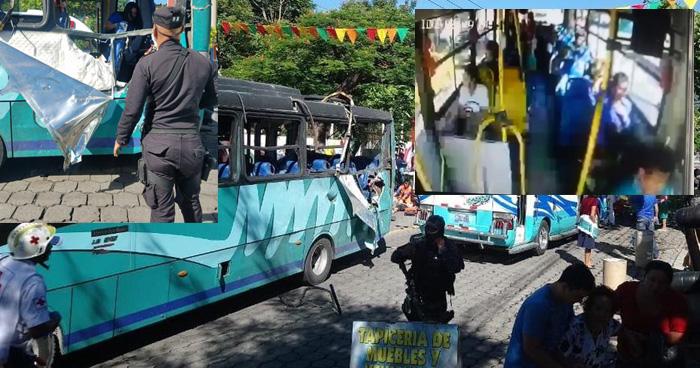 Captan momento de la explosión en la Zacamil dentro de microbus de la ruta 23