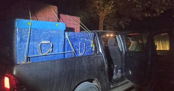 Detienen a salvadoreños con mercadería cuando intentaban cruzar ilegalmente hacia Guatemala
