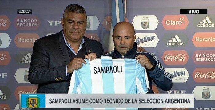 Jorge Sampaoli es oficialmente nuevo entrenador de la Selección de Argentina