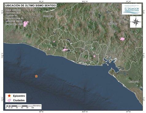 Sismo de 6.2 grados sacude esta mañana a El Salvador