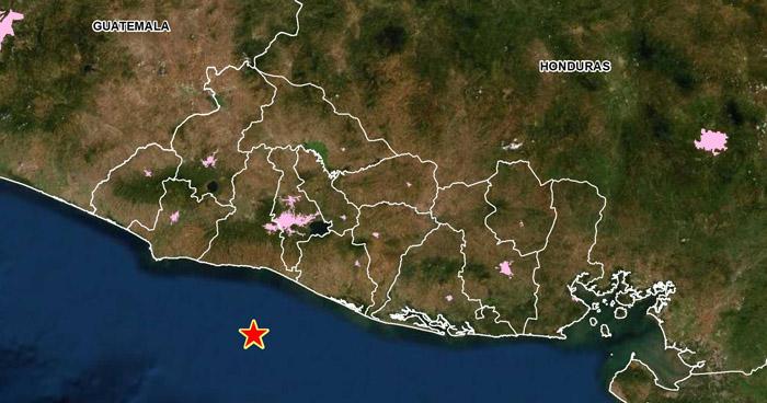 Dos sismos sacudieron esta tarde las costas de La Libertad y Usulután
