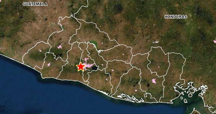 Sismo de 2.2 sacudió esta mañana a Antiguo Cuscatlán
