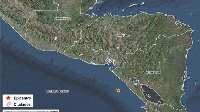 Sismo de 5.1 se registro esta tarde frente a la costa de Nicaragua cerca de La Unión