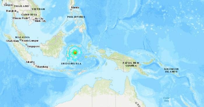 Sismo de magnitud 6.8 sacude isla indonesia, NO hay amenaza de tsunami para El Salvador