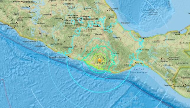 Terremoto de magnitud 7,2 sacude México esta tarde de Viernes