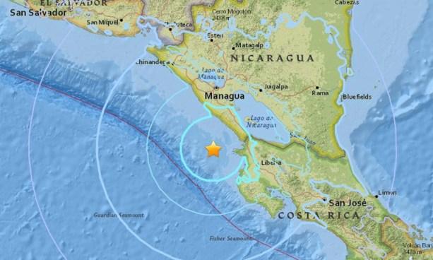 Fuerte sismo sacude esta mañana de martes territorio nicaragüense