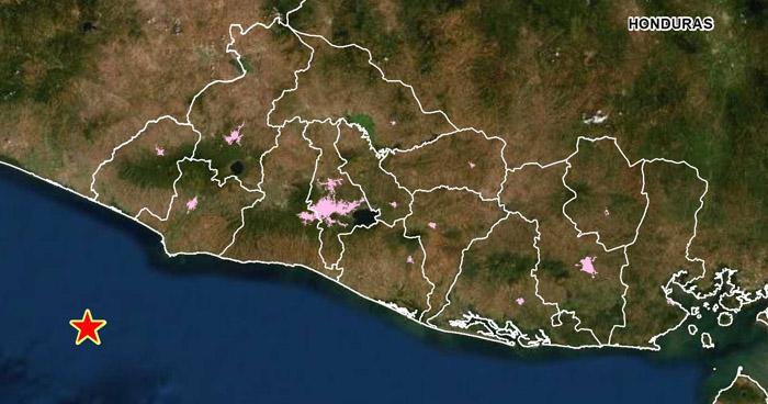 Sismo sacude la costa de Ahuachapán este sábado