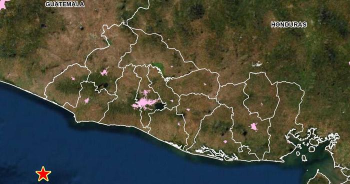 Sismo de 3.9 sacude la costa de Sonsonate este domingo