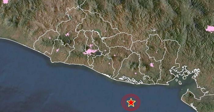 Sismo de 4.0 sacudió esta mañana la costa de Usulután