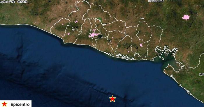 Sismo de 4.1 sacudió esta madrugada la costa de Usulután