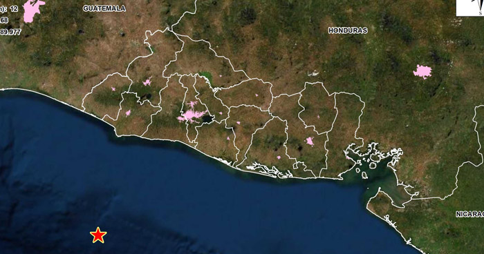 Sismo de 4.4 sacudió esta mañana la costa de Sonsonate