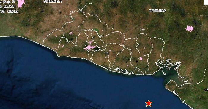 Sismo de 3.5 sacudió esta mañana la costa de La Unión