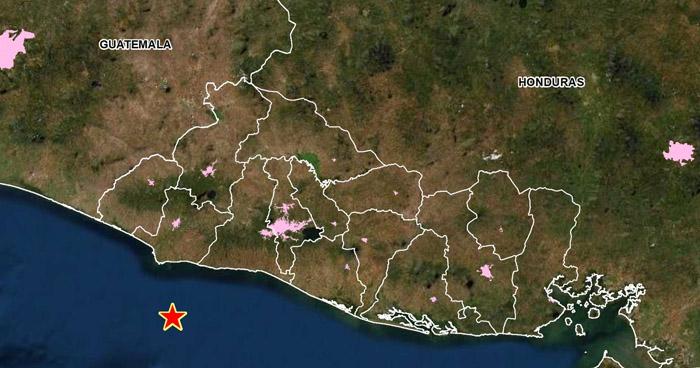 Sismo de 3.7 sacudió este miércoles la costa de Sonsonate