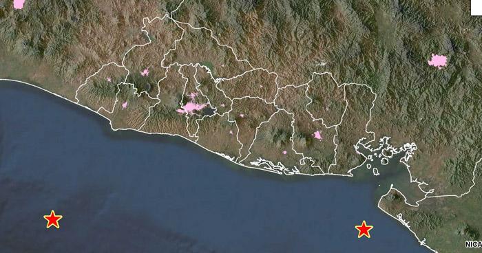 Dos sismos fueron registrados esta madrugada en las costas salvadoreñas