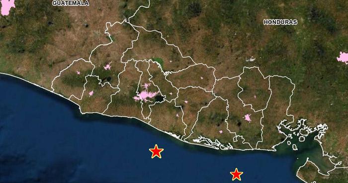 Dos sismos sacudieron parte de la costa de El Salvador esta madrugada