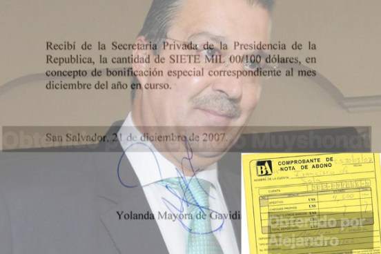 Filtran nuevos recibos de funcionarios del partido ARENA involucrados con sobresueldos