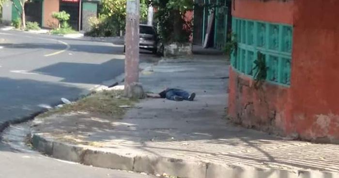 Un hombre fue asesinado a balazos en el reparto Guadalupe de Soyapango