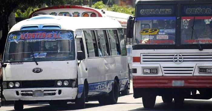 Anuncian suspensión de subsidio para 9 rutas de buses y de 8 rutas de microbuses