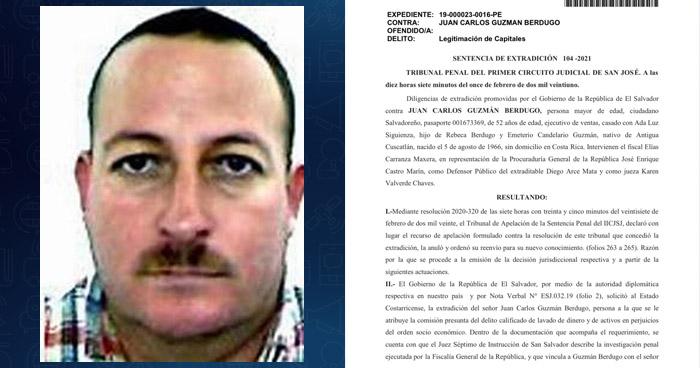 Costa Rica autoriza extraditar a El Salvador al suegro de Mauricio Funes