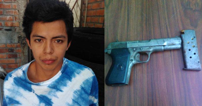 Capturan a pandillero que tenía en su poder un arma de fuego ilegal en San Salvador