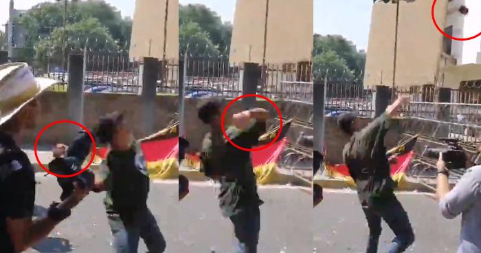 Detenido tras protesta contra la privatización del agua fue captado lanzando piedras