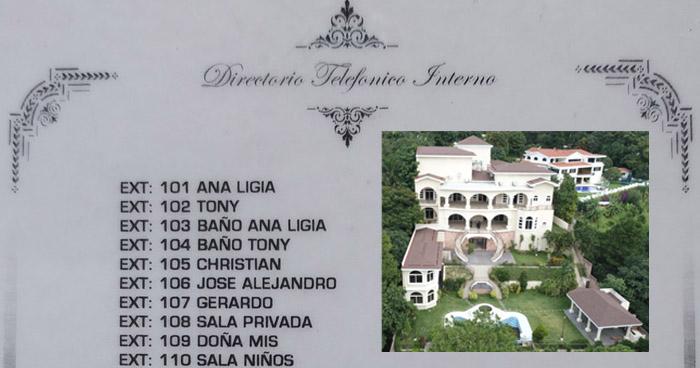 Lujosa mansión del expresidente Saca tenia 41 extensiones telefónicas