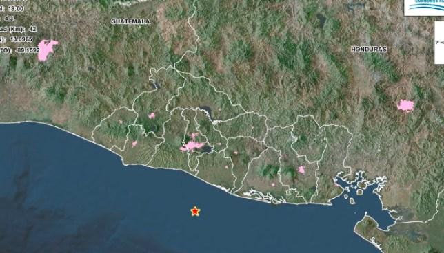 Sismo de 4.3 en la costa de La Paz sensible en la Zona Metropolitana de San Salvador esta tarde