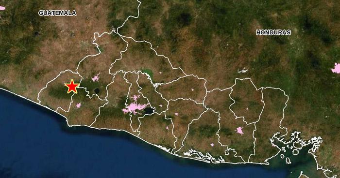 Dos sismos sacudieron esta mañana el municipio de Ahuachapán