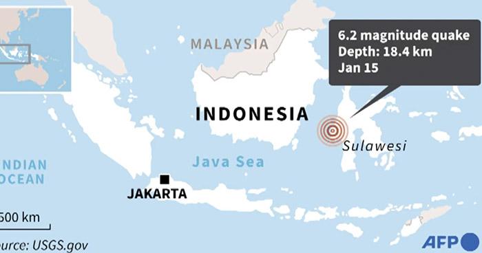 Muertos, heridos y edificios derrumbados dejó fuerte sismo en Indonesia