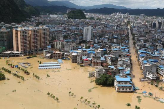 33 personas fallecidas y 600 casas destruidas dejan tormentas al sur de China