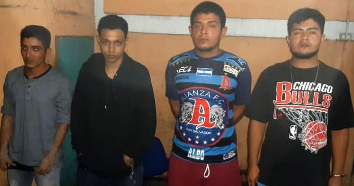 Cuatro detenidos por tráfico de drogas en Cojutepeque