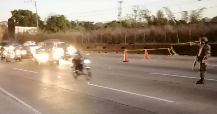 Discrepancia entre autoridades no permitió control de tránsito en carretera Los Chorros