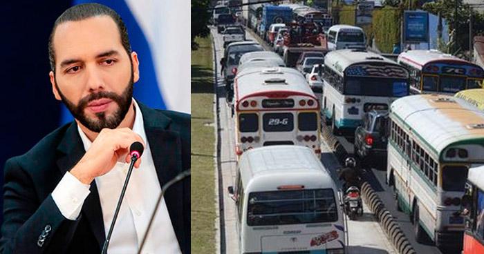 Presidente Bukele vetará blindaje de diputados a concesiones de Transportistas