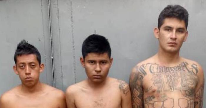 Capturan a 3 pandilleros con un arma de fuego en Chalchuapa, Santa Ana
