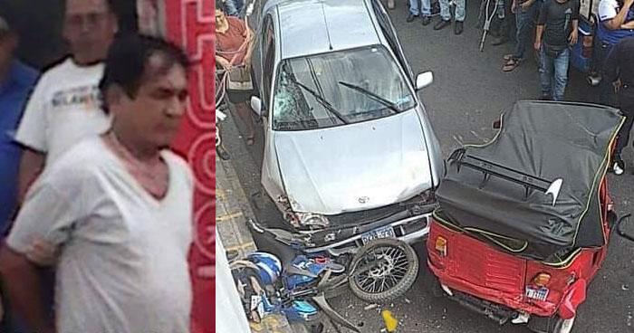 Conductor ebrio provoca accidente en Ilobasco. Un niño resultó lesionado