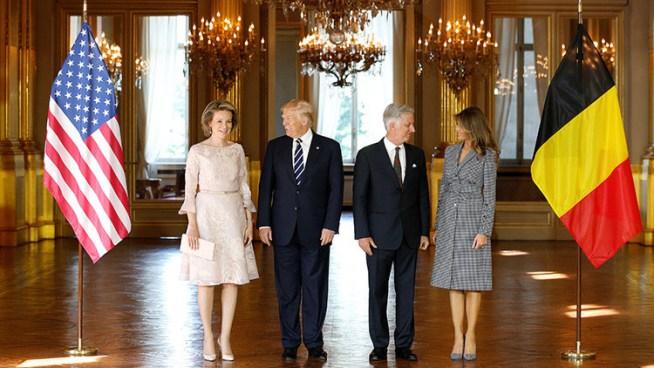 Trump visita Bélgica para participar en la cumbre de la OTAN