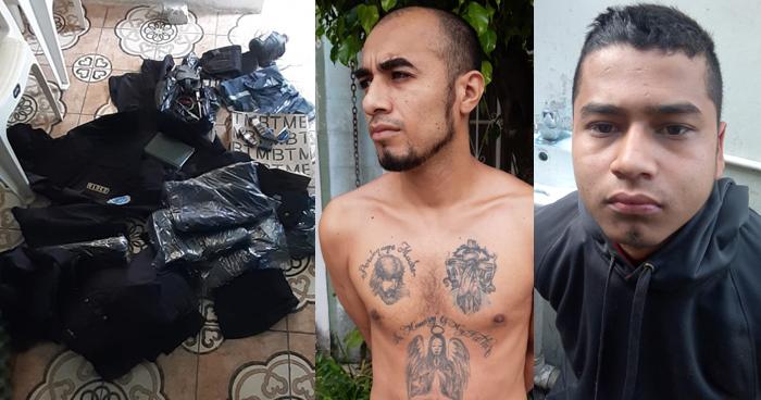 Capturan a pandilleros y les incautan uniformes policiales reales de la PNC en Santa Ana