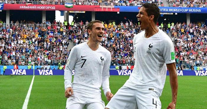 Francia se clasifica a las semifinales tras derrotar 2-0 a Uruguay que quedo eliminada