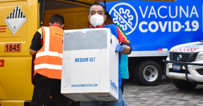 Arriban a El Salvador más de 125 Mil vacunas contra el COVID-19