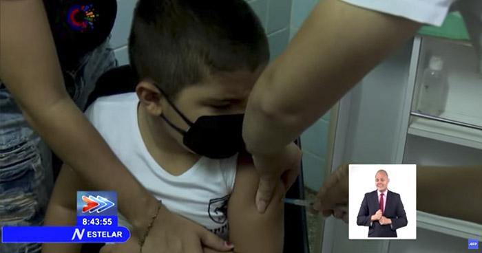 Cuba vacuna contra el COVID-19 a niños entre 2 y 11 años de edad
