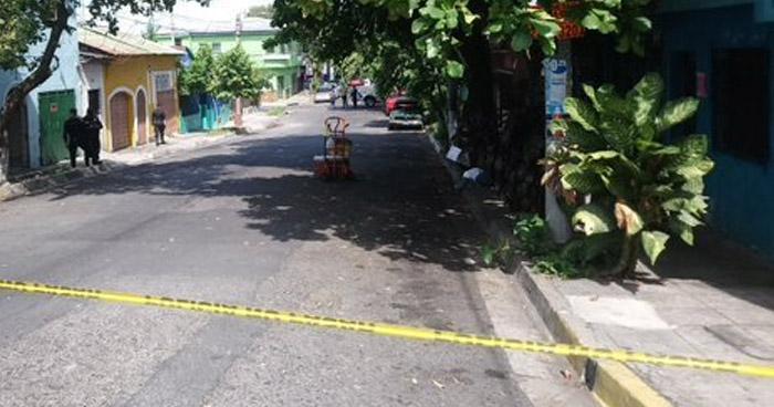 Vendedor ambulante asesinado en colonia Mugdan de San Salvador