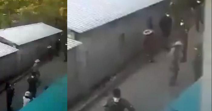 Captan a policías golpeando a un anciano por no acatar Cuarentena Domiciliar