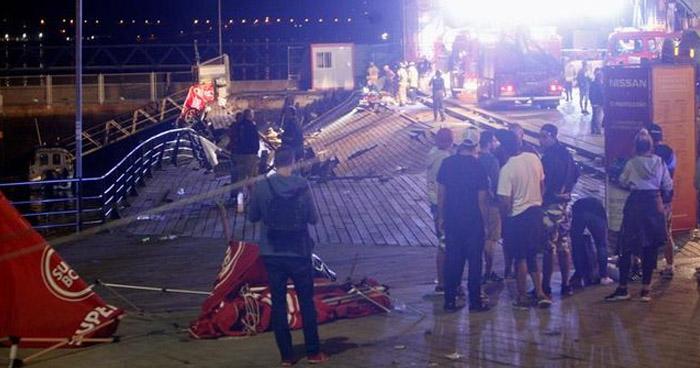 Más de 300 heridos por el desplome de una pasarela en Vigo, España
