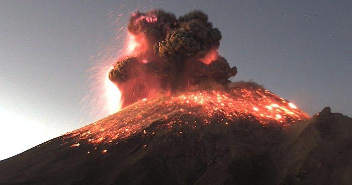 México en Alerta Amarilla por erupción del volcán Popocatépetl