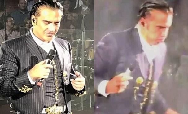 Alejandro Fernández a punto de vomitar en concierto