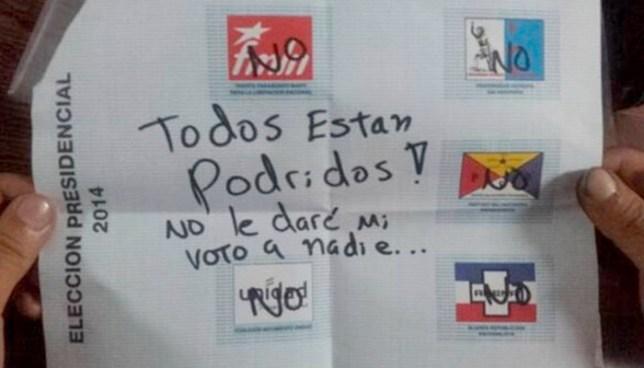 Solicitar anular el voto podría ser castigado con cárcel, según propuesta de DECIDE