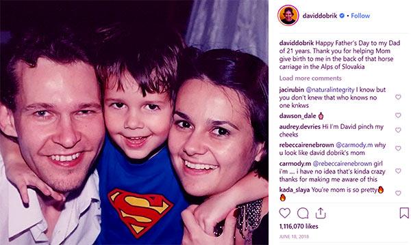 David Dobrik Parents